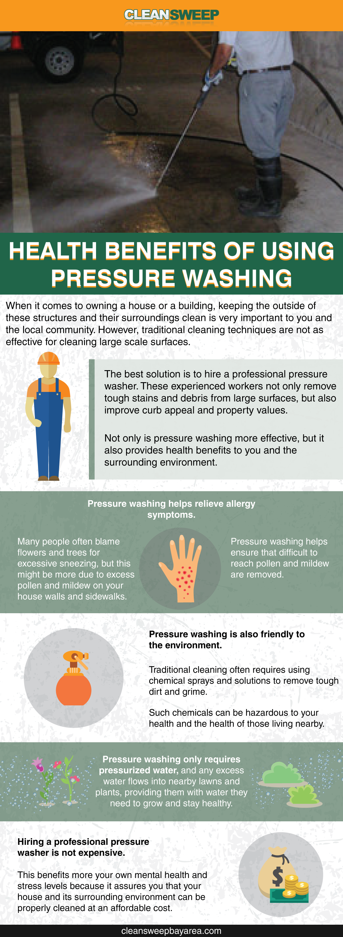 Health Benefits of Using Pressure Washing